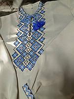 Льняная Рубашка Вышиванка мужская  р. 42 - 58