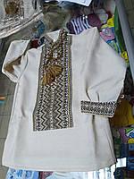 Льняная Рубашка Вышиванка  детская для мальчиков р.86 - 146