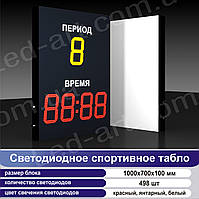 Светодиодное спортивное табло универсальное LED-ART-Sport-1000х700-498