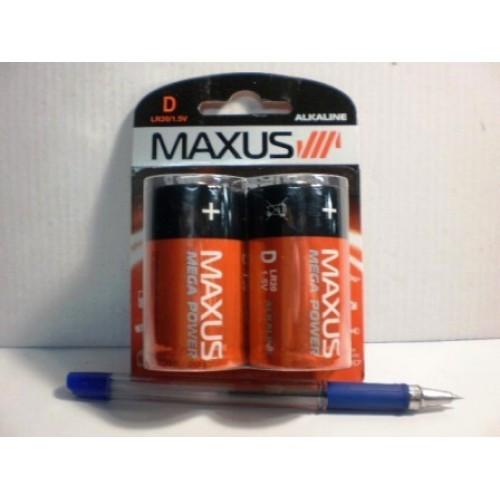 Батарейка MAXUS алкалиновых 1 5V LR20