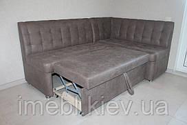 Угловой диван со спальным местом в кухню (Светло-коричневый)