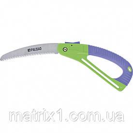 Пила садовая складная, 175 мм, зуб 3D, обрезиненная рукоятка с защитной кулисой. PALISAD