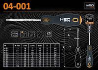 Отвертка шлицевая 6,5 х 100мм., NEO 04-001