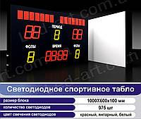 Светодиодное спортивное табло универсальное футбол, баскетбол LED-ART-Sport-1000х600-975