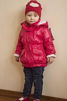 """Куртка-плащ на девочку демисезонная Lutter """"Модница"""" коралловый"""