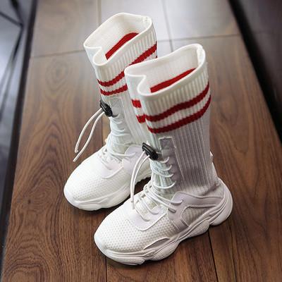 Кроссовки детские высокие носки