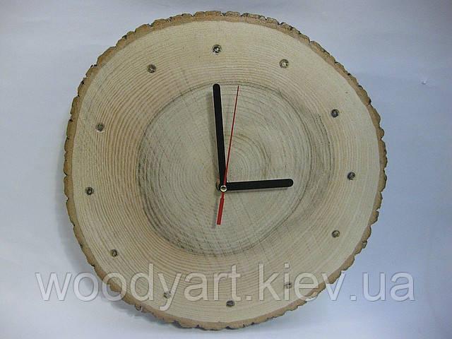 """Настінні годинники з дерева """"круглий зріз"""""""