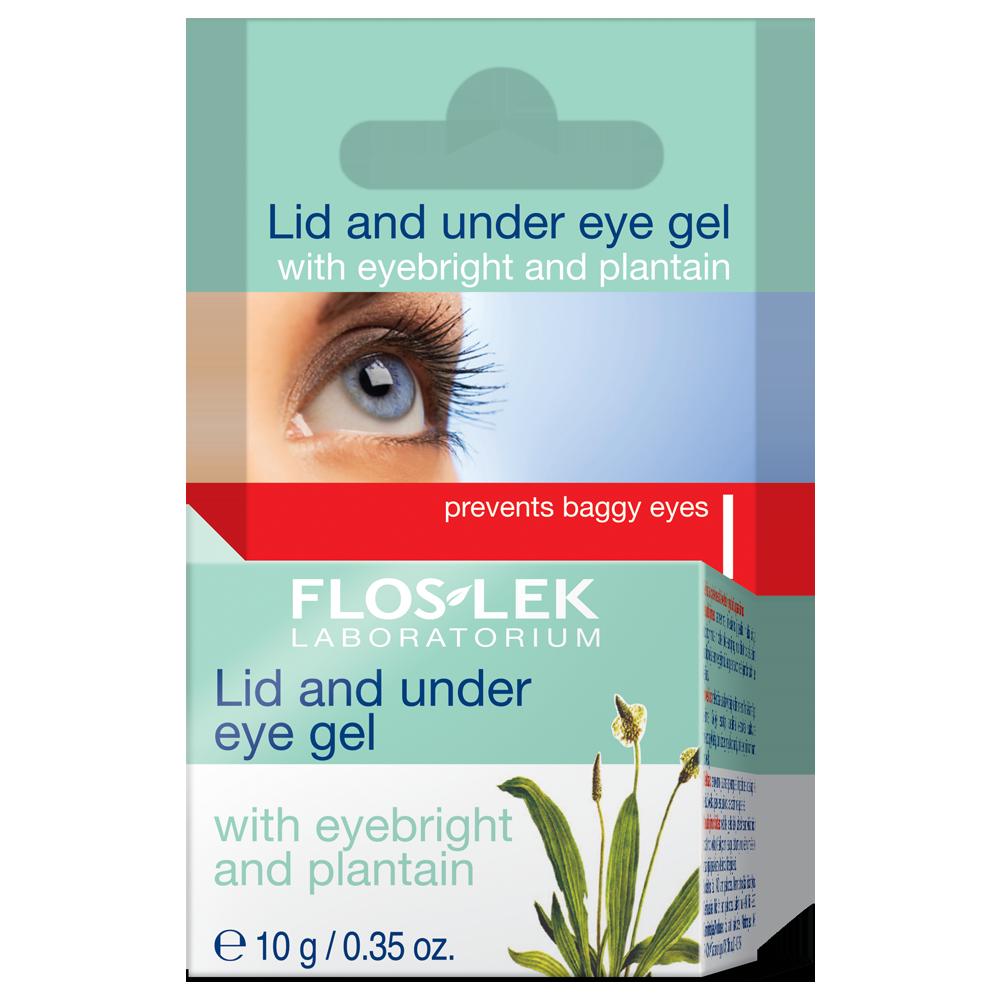 Гель для області навколо очей Floslek з очанкою лікарською та подорожником 10 г (3909025)