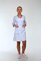 Женский медицинский халат из котона Код мед3137к