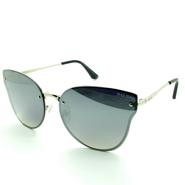 Солнцезащитные очки бабочки  оправа, пластик  Miu Miu женские серебро ( MM8605 C4 )