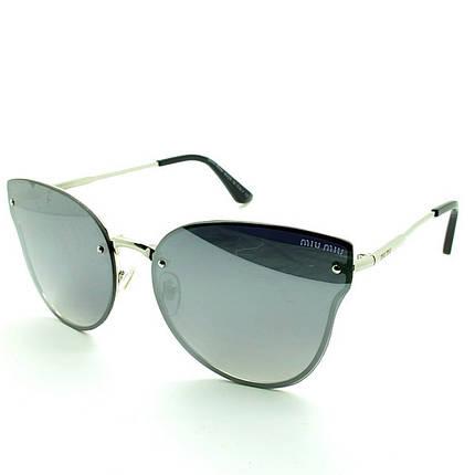 Солнцезащитные очки бабочки  оправа, пластик  Miu Miu женские серебро ( MM8605 C4 ) , фото 2