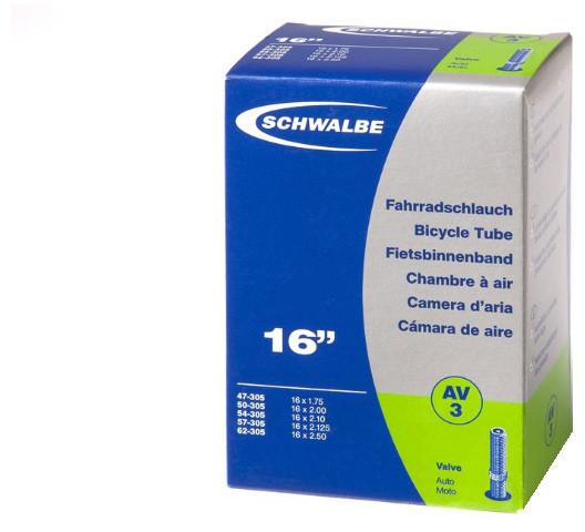 """Камера 16"""" (47/62x305) a/v 40мм Schwalbe AV3 IB AGV"""