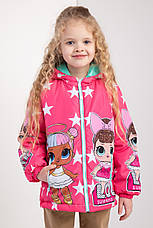 """Куртка для девочек весна-осень с принтом """"LOL"""" 116-122-128-134 роста, фото 3"""