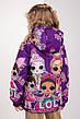 """Куртка для девочек весна-осень с принтом """"LOL"""" 116-122-128-134 роста, фото 6"""