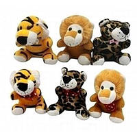Мягкая игрушка SF265374 лев тигр леопард по 12шт 11 * 15 * 10 см в пакете