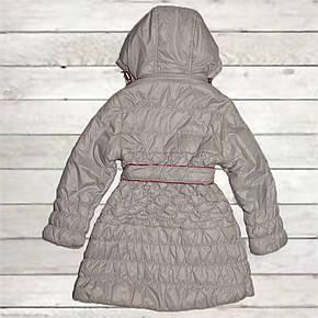 Плащ демисезонный для девочки от 4 до 8 лет стеганый серый, фото 2