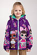 """Куртка для девочек весна-осень с принтом """"LOL"""" 116-122-128-134 роста, фото 4"""