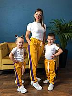 Парная одежда трое спортивных брюк комплект мама+дочка+сын