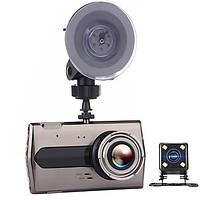 """Видеорегистратор DVR T667 автомобильный регистратор TFT HD дисплей 4,0"""" 2 камеры автомобильный регистратор"""