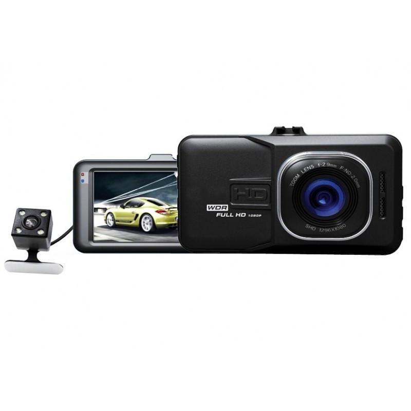 Авторегистратор классический автомобильный HD DVR T636 видеорегистратор на 2 камеры