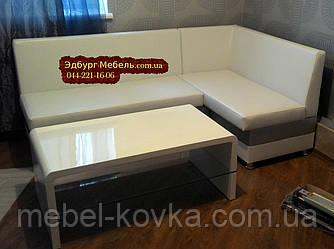 Кухонный уголок = кровать бело-серебряный