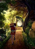 Картина GeekLand My Neighbor Totoro Мой сосед Тоторо на лесной тропе 40x60 NT 09.002