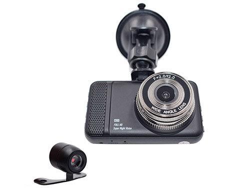 """Відеореєстратор стандартний T659 Titan 2 камери FullHd автомобільний реєстратор 3"""" кут огляду 170"""