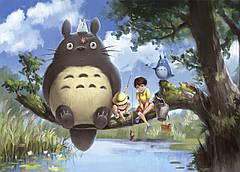 Картина GeekLand My Neighbor Totoro Мой сосед Тоторо рыбалка 60x40 NT 09.004
