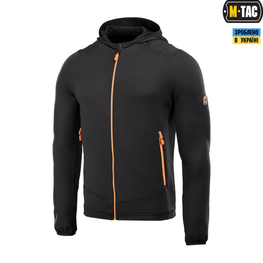 M-tac кофта spider microfleece hoodie (black)