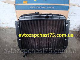 Радиатор Зил 130, Зил 131  3-х рядный, медный (производитель Композит групп, Россия)