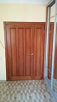 Двери из массива полуторные на заказ в Харькове