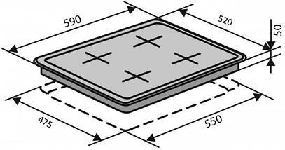 Индукционная варочная панель ELEGANT IH 611 TA WH, фото 3