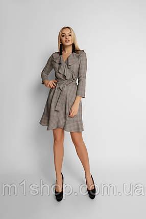 Женское клечатое платье с воланом (Лейлаjd), фото 2