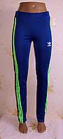 Спортивные женские штаны Adidas копия с лампасами,  размер 44,46,48
