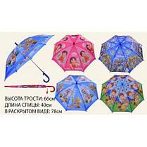 Зонт CEL-35 4 вида с рисунком герои м / ф в пакете длина трости - 66 см
