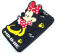 Чохол дитячий для Sony Xperia E4 dual e2115 силіконовий об'ємний іграшка Мінні Маус чорний