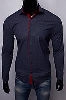 Рубашка мужская Paul Smith 15721 с регулировкой рукава синяя реплика
