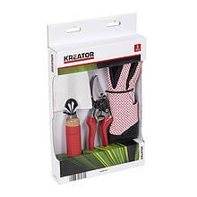 Набір секатор + садовий совок + рукавички VARO KREATOR