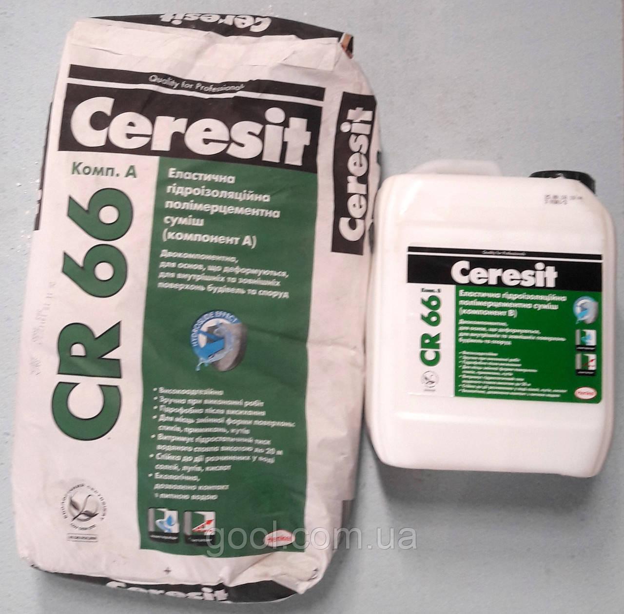 Ceresit CR 66 эластичная цементная гидроизоляция два компонента 22.5 кг