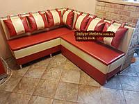 Кухонный диван со спальным местом на тонких сидушках