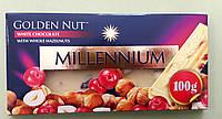 Шоколад Millennium білий з фундуком 100 г, фото 1
