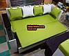 Диван для кухни со спальным местом и баром карго 1950х650, фото 5