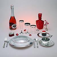 Набор посуды стекловидной CFP 116шт/6пер для фуршета и праздничного стола Пасха Красная горка «Селебрити»