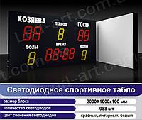 Светодиодное спортивное табло универсальное футбол, баскетбол LED-ART-Sport-2000х1000-988