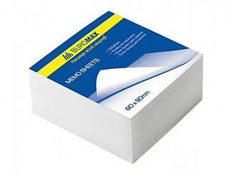 Блок белой бумаги для заметок JOBMAX 80х80х20мм, склеенный