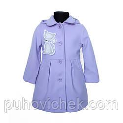 Пальто детское для девочки демисезонное из кашемира
