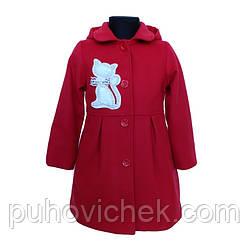 Красивое детское пальто на девочку весеннеес капюшоном