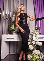 Платье кожаный пояс (23) $