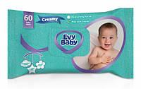 Влажные салфетки Evy Baby Creamy, 60 шт.