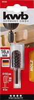 Бор фреза цилиндрическая закругленная 13 x 35 mm KWB, фото 1